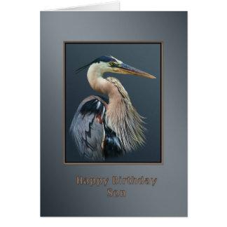 Birthday, Son, Great Blue Heron Bird, Card