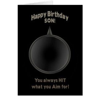 BIRTHDAY - SON - GUN - AIM CARD