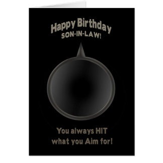 BIRTHDAY - SON-in-LAW - GUN - AIM Card