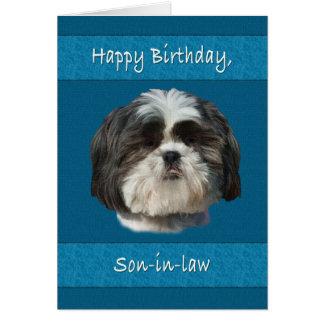 Birthday,  Son-in-law, Shih Tzu Dog Card