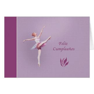 Birthday Spanish Feliz cumpleaños Ballerina Greeting Card
