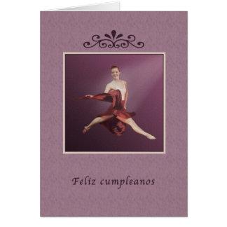 Birthday, Spanish, Feliz cumpleanos, Ballerina Greeting Card
