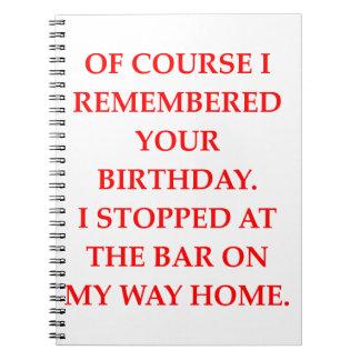 birthday spiral notebook