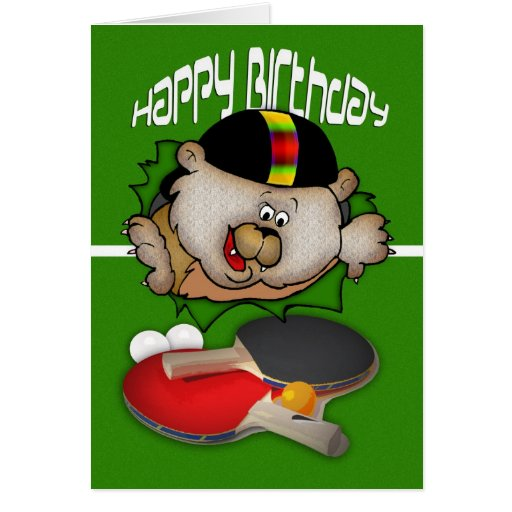 Birthday Sport Ping Pong Table Tennis Greeting Card Zazzle