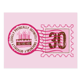 Birthday Stamp 30 Postcard