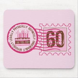 Birthday Stamp 60 Mousepad