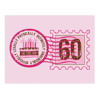 Birthday Stamp 60 Postcard