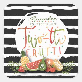 BIRTHDAY STICKER | Two-tti Frutti Fruit Party