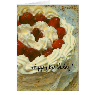 Birthday Strawberry Cake Card