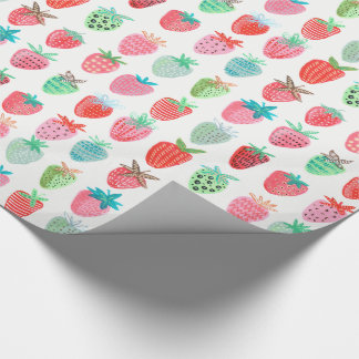Birthday Strawberry Fruit | Glossy Wrapping Paper