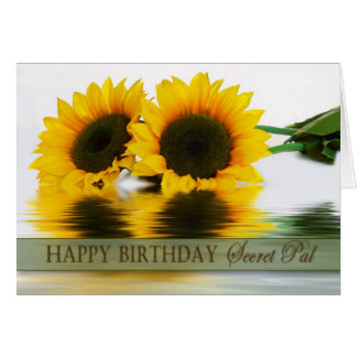 BIRTHDAY - SUNFLOWERS - SECRET PAL GREETING CARD