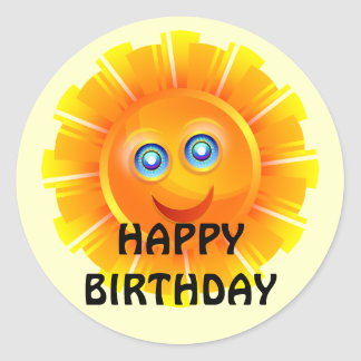 BIRTHDAY: Sunshine birthday sticker
