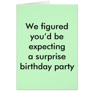 Birthday surprise card