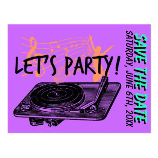 Birthday Surprise Party 60s Save the date Postcard