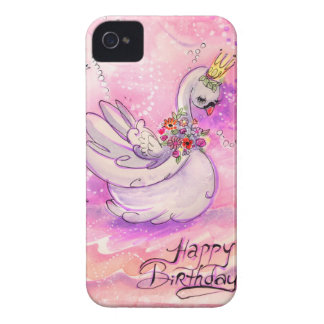 Birthday Swan Watercolor Case-Mate iPhone 4 Case