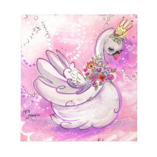 Birthday Swan Watercolor Notepad