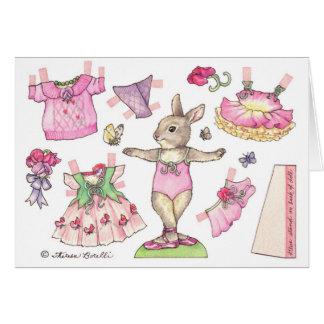 Birthday Sweet Pea Paper Doll Card