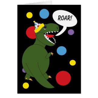 Birthday T-Rex Dinosaur Card