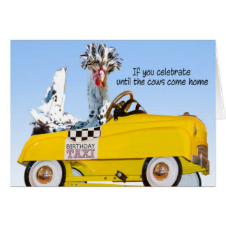 Birthday Taxi Card