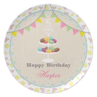 Birthday Tea Party Plate