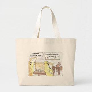 Birthday, the parakeet  way large tote bag