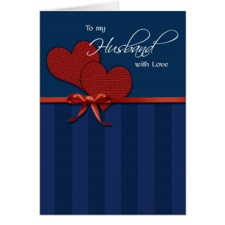 Birthday - To my husband w/love Greeting Card