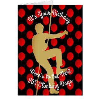 Birthday To The Next 365 Rock Climbing Days Card