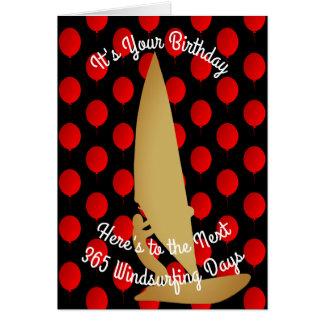 Birthday To The Next 365 Windsurfing Days Card