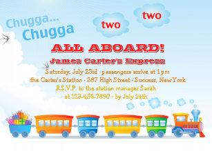 All Aboard Invitations & Announcements | Zazzle CA