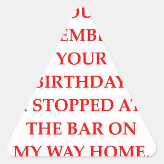 birthday triangle sticker