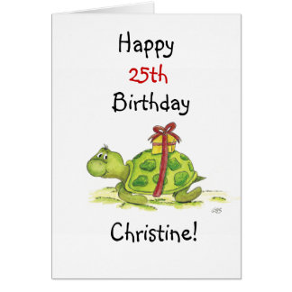 Birthday Turtle - Customize the age and name Card