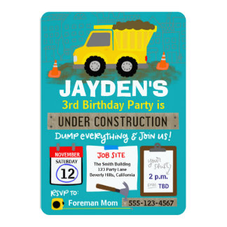 Birthday Under Construction Card