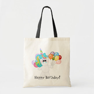 Birthday Unicorn kids tote bag