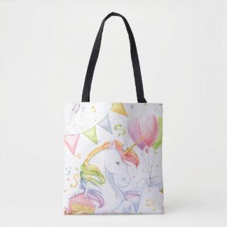 Birthday Unicorn Tote Bag