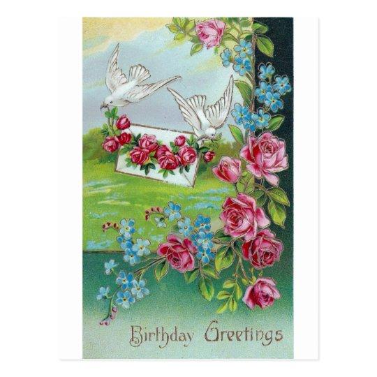 Birthday Vintage Postcard