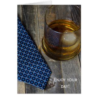 Birthday whiskey drink card