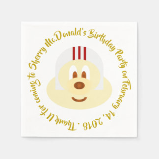 Birthday - White Helmet 鮑 鮑 Paper Napkin