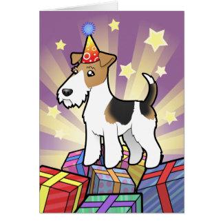 Birthday Wire Fox Terrier Card