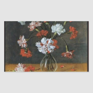 Birthday Wishes - Carnations In A Glass Vase Sticker