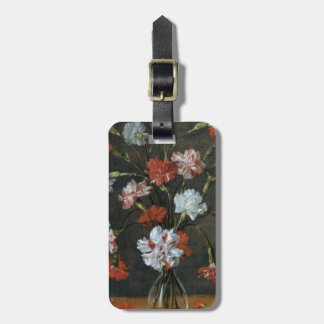 Birthday Wishes - Carnations With Oval Mount Luggage Tag