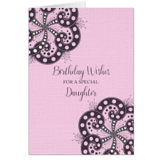 Birthday Wishes for a Special Daughter Card