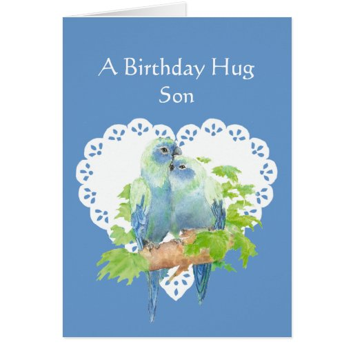 Birthday Message To Son: Birthday Wishes For Son From Mother Parrot Bird Card
