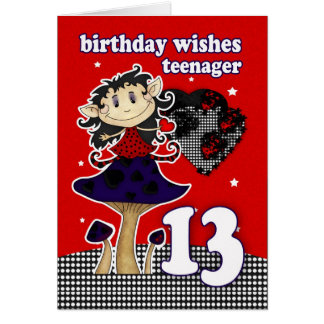 Happy 13th Birthday Cards Photocards Invitations More Happy 13 Birthday Wishes