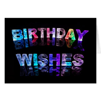 Birthday Wishes In Lights Photo Card
