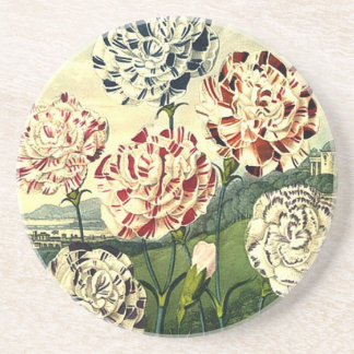 Birthday Wishes - Striped Carnation Coaster