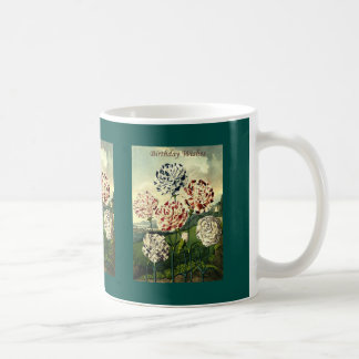 Birthday Wishes - Striped Carnation Coffee Mug