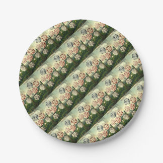 Birthday Wishes - Striped Carnation Paper Plate