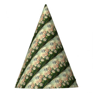 Birthday Wishes - Striped Carnation Party Hat