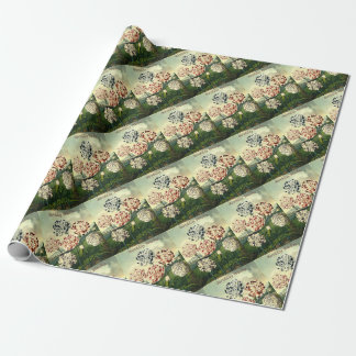 Birthday Wishes - Striped Carnation Wrapping Paper