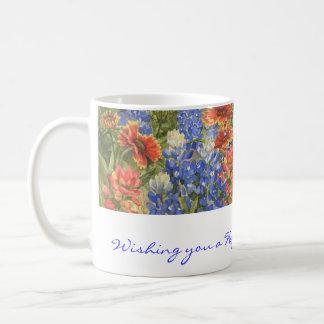 Birthday Wishes! Texas Wildflowers Mug